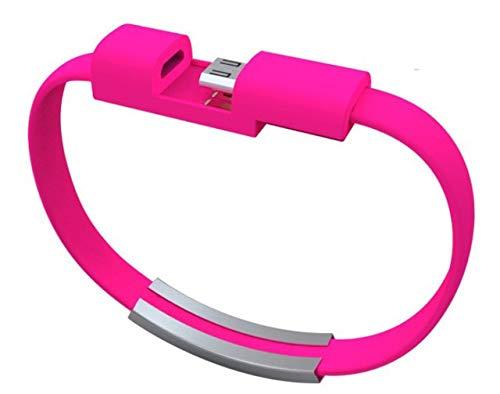 DASHUAIGE Pulsera USB Pulseras Trenzadas con Cable De Datos para Mujeres & Amp;Brazaletes Cargador Teléfono Móvil Cable De Carga USB Lether Joyas Hombrespara iPhone/para Android/para el Tipo c
