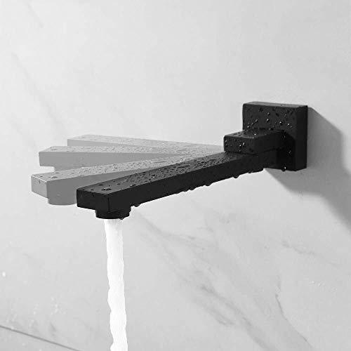 Grifo de Lavabo Monomando para Lavabo Plegable duchas grifos Boquilla, 180 grados de relleno de latón macizo Split-Tipo Grifos, Cuenca del grifo mezclador Válvula Boquilla & válvula aireador