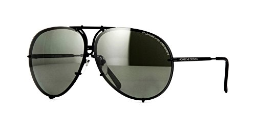 Porsche Design Occhiali da Sole P8478 DARK RUTHENIUM/GREY GREEN SEMI-MIRROR 66/10/135 unisex