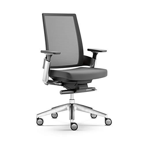 Silla de oficina, FORMA 5 3.60, silla de trabajo, silla de escritorio ergonómica, respaldo lumbar en malla-base poliamida o aluminio, totalmente personalizable