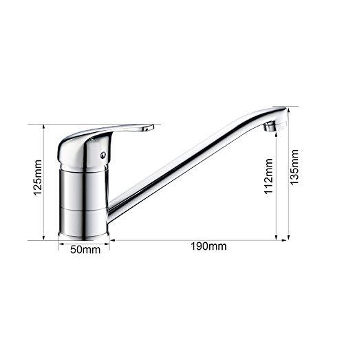 Auralum® Einhebel Spültisch Armatur Mischbatterie Wasserhahn Klasisch Design - 2