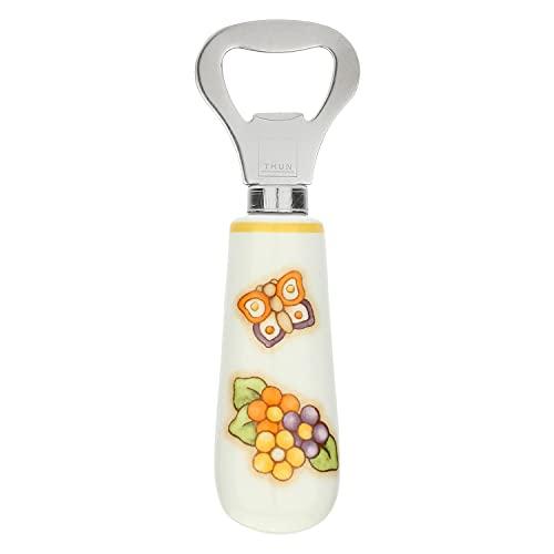 THUN - Apri Bottiglie con Farfalla - Cucina, per la tavola - Idea Regalo - Linea Country - Gres, Acciaio Inossidabile - 13 cm l