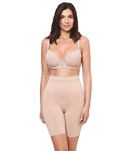 Channo Faja Pantalon sin Costuras Antideslizante Mujer Licra Invisible (Beige, XL-XXL)