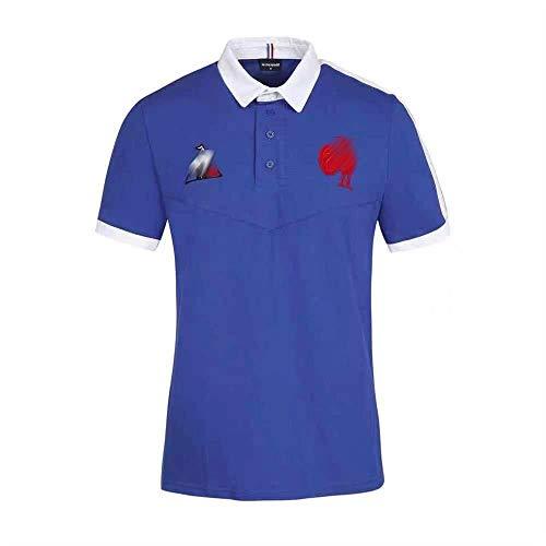 LKJHG 2021 Frankreich Lastest Rugby Trikot bestickt Rugby Shirt und Shorts für Herren Damen Jugend Polo Kurzarm Rugby Anzug S-XXXXXL XL T-Shirt