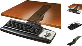 3M Adjustable Keyboard+Mouse Tray 23 Inch, AKT90LE (23 Inch 3M Easy-Adjust...