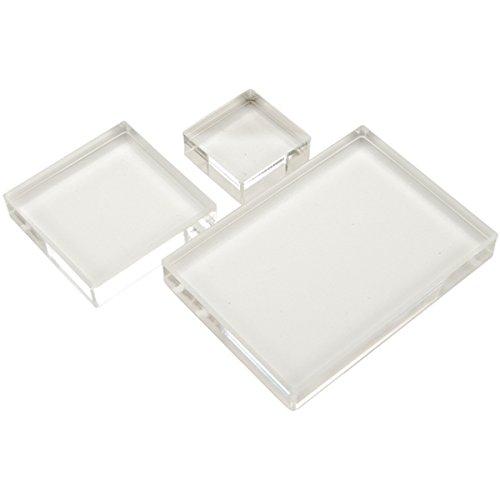 Apple Pie Memories Tarte aux Pommes mémoires Tampon Acrylique Block Set 3/Pkg-.5 » épaisse, 1.25X1.25, 2X 2 X3.5, 2.5