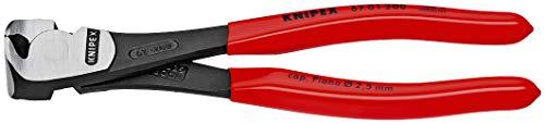 KNIPEX 67 01 160 Kraft-Vornschneider schwarz atramentiert mit Kunststoff überzogen 160 mm