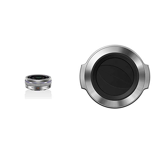 Olympus M.Zuiko Objetivo Digital 14-42 mm F3.5-5.6 EZ, Zoom estándar, Apto para Todas Las cámaras MFT + LC-37C Tapa de Apertura automática para Objetivo M.Zuiko Digital