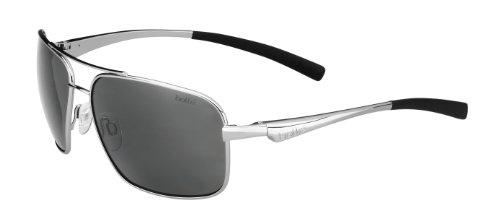 Bollé Brisbane Shiny Silver - Polarized TNS oleo AF Mixte Adulte, Argent Brillant, M