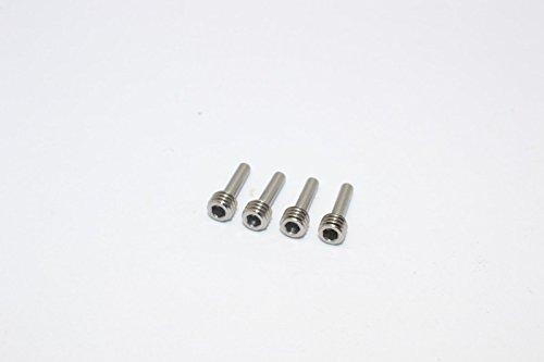 GPM Vaterra K5 Blazer Ascender Tuning Teile Steel Screws for Hex Adapter - 4Pcs Silver