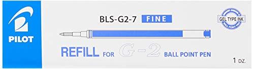 Pilot BLS-G2-7-L, Ricarica penna per G-2, Gel, 07, Blu, Pacco da 12