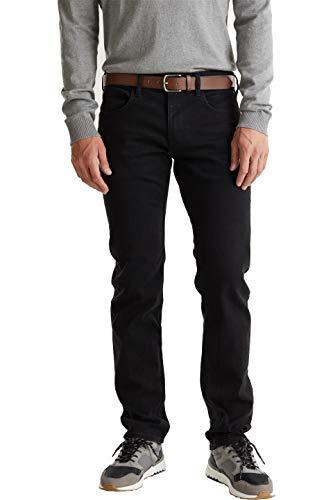 ESPRIT Herren 129EE2B023 Straight Jeans, Schwarz (Black Rinse 910), 36W / 32L