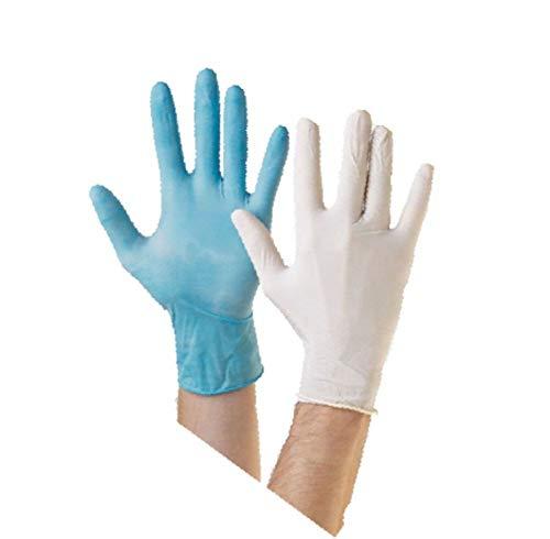 LY Tools Einweghandschuhe, Latex, Vinyl oder Nitril, puderfrei, Schwarz, Blau, 100 Stück, Type:Blue Vinyl & Powder Free, Size: Small & Number of Box:10