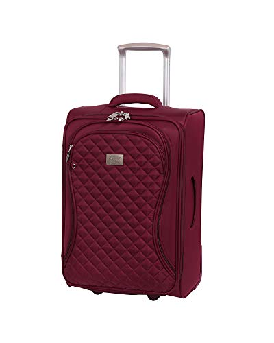 """it Girl 22"""" Timeless 2 Wheel Lightweight Expandable Carry On, Red Plum, One Size"""
