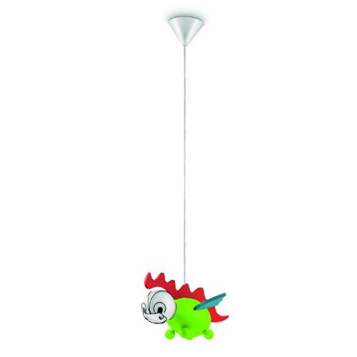 Philips 402295516 Drakey Suspension Luminaire pour Enfant Bois Multicolore 1 x 14 W