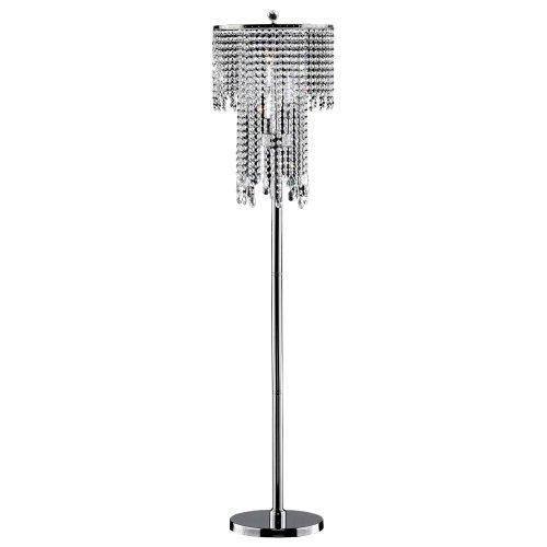 OK Lighting OK-5112F Rain Metal Floor Lamp, 14' x 14' x 63'