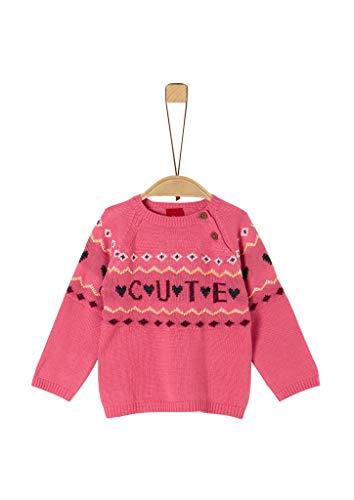 s.Oliver Baby-Mädchen 65.909.61.2314 Pullover, Rosa (Pink 4543), (Herstellergröße: 74)