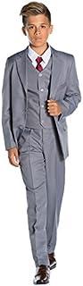 Shiny Penny Boys Formal 5 Piece Suit Set with Shirt & Vest