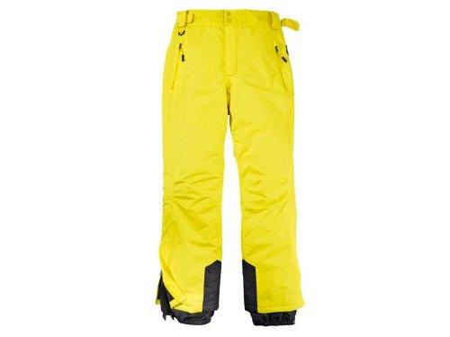 Crivit Herren Skihose Snowboardhose Schneehose Wasser und schmutzabweisend durch Bionic Finish (Gelb, 48)