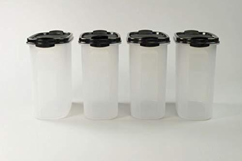 Tupperware Eidgenossen 1,7 L schwarz mit Schütte (4) Trockenvorrat Dose Modular