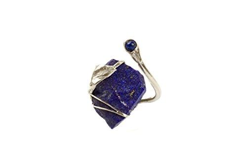 Fingerring aus Silber mit Lapis Lazuli als Rohstein 517S