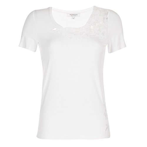 Morgan Womens Dame Weiss T-Shirts L