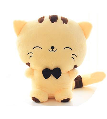 Muñeca de felpa con forma de gato, incluye cola de peluche, cojín de felpa, muñeca de gato Kawaii, juguetes de gato de felpa para niños, niñas, adolescentes