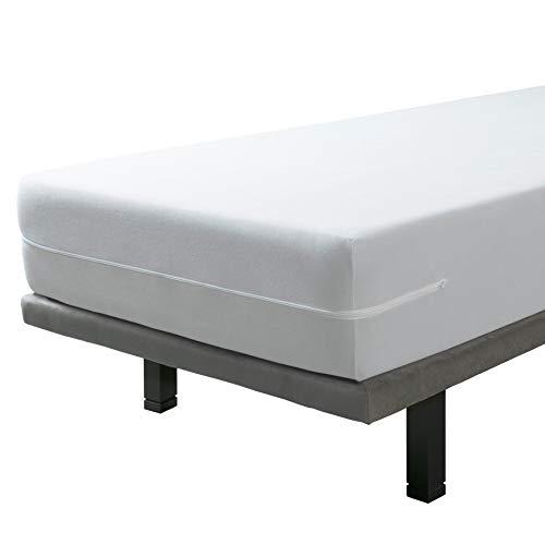 SAVEL, Funda colchón Rizo Microfibra, elástica y Ajustable, 150x190/200 (para Camas de...