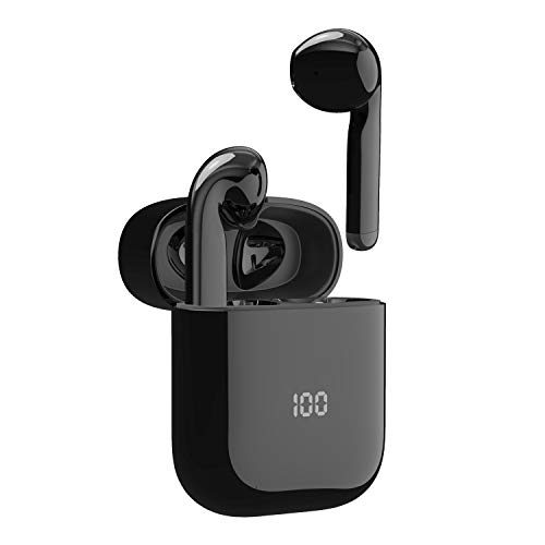 Wireless Stereo Earphones, Mixcder X1 Bluetooth 5.1 Lightweight Earbuds, 24H in-Ear Headphones with Noise Cancellation Mic, Auto-Play and USB-C Fast Charge, Smart Touch Control for iOS and Android