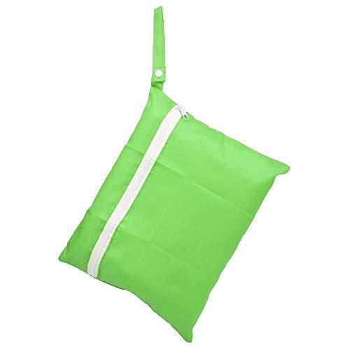 Wickeltaschen Hängen Baumwoll Windelbeutel Wasserdichte waschbare Aufbewahrungsbox für Reise Strand Pool Kindertagesstätte Verschmutzte Babyartikel(grün)