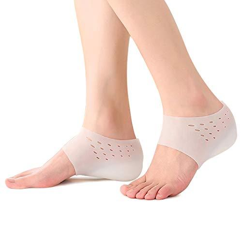 【男女兼用】シークレットインソール 身長アップ 中敷き シリコン かかと シークレット かかと 身長アップ 2.0cm 足長効果 高通気性 衝撃吸収 美脚効果 靴下で隠せる どんな靴にも合う