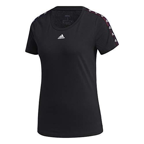 Adidas W E Tpe T Maglia manica corta, Black, L Donna