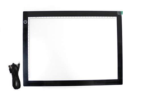 Pracht Creatives Hobby Diamond Dotzlite LED Pad Deluxe, Leuchttafel ca. 36 x 27 x 0,5 cm groß, stufenlos einstellbare Helligkeit, mit USB-Kabel, ideal für das Malen mit Diamanten oder beim Zeichnen