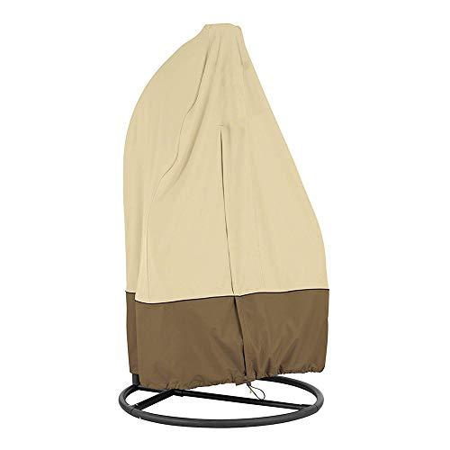 æ— Wasserdichter Stuhlbezug, Braun & Khaki Stuhlschutz, Schutzbezug mit Kordelstopper für Schaukelstuhl Pod Stuhl