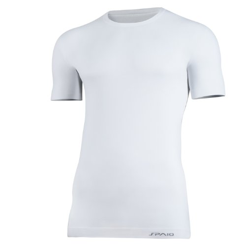SPAIO Relieve–Camiseta para Hombre–körpernah Fácil absorbeolores, Verano, Hombre, Color Blanco, tamaño L-XL