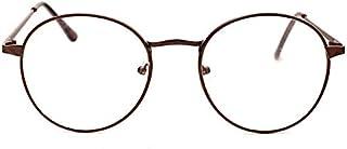 Retro Round Optical Metal Glasses Frame Clear Lens Eyewear