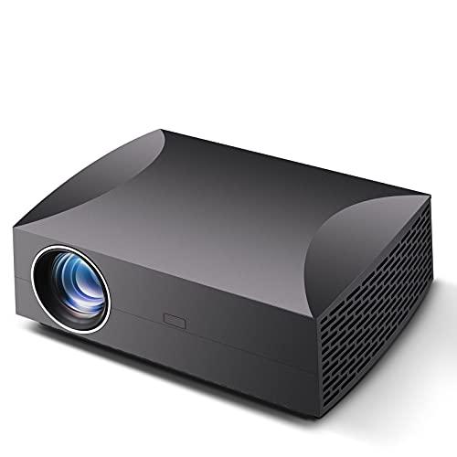 SDFD Proyector Inteligente Full HD, corrección Trapezoidal de ± 15 ° Compatible con Varios Dispositivos Proyector WiFi, Adecuado para el hogar, Exteriores, películas, Entretenimiento