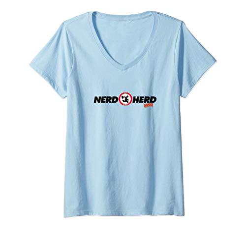 Damen Chuck Nerd Herd T-Shirt mit V-Ausschnitt