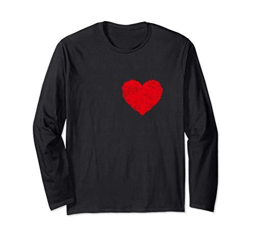 Camiseta de corazn de hombre Disfraz de Halloween Camisetas Manga Larga