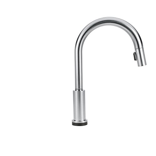 Delta Faucet Trinsic Single-Handle Touch Kitchen Sink Faucet with Pull Down Sprayer, Touch2O Technology and Magnetic Docking Spray Head, Arctic Stainless 9159T-AR-DST