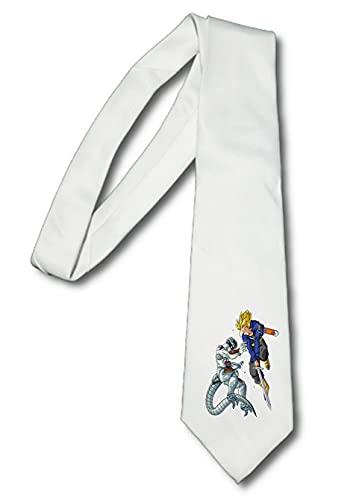 MERCHANDMANIA Corbata Elegante Trunks VS Freezer Espada SSJ Suave Poliester