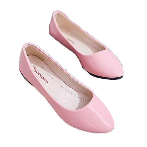 Zapatos Casuales sin Cordones para Mujer Primavera Otoño Zapatos de Boda Blancos Transpirables Mocasines de Ballet Suaves al Aire Libre Zapatos Planos Zapatos de Cuero