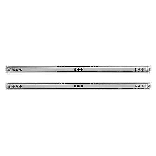 Deslizador de cajón, 2 unids/set 342x17mm de acero laminado en frío riel de cajón con rodamiento de bolas para aparador de armario