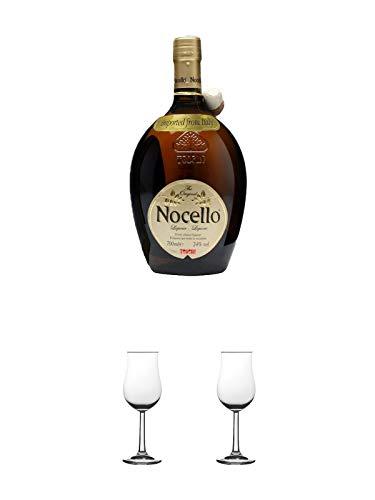 Toschi Nocello Nusslikör 0,7 Liter + Nosing Gläser Kelchglas Bugatti mit Eichstrich 2cl und 4cl 1 Stück + Nosing Gläser Kelchglas Bugatti mit Eichstrich 2cl und 4cl 1 Stück