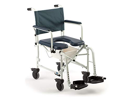 Invacare Mariner Rehab Shower Wheelchair, with Commode Opening, 300 lb. Weight Capacity, 6891