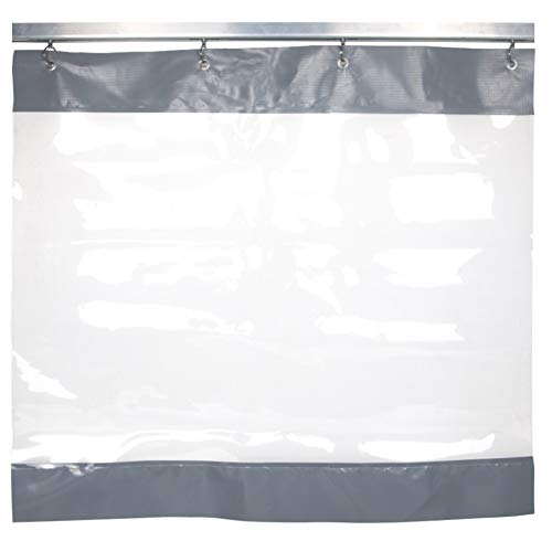 LSXIAO Impermeable Cortinas Cerramiento De Patio, Grado Comercial 0,5mm Transparente Lona De PVC, con Arandela Antioxidante para Toldo De...