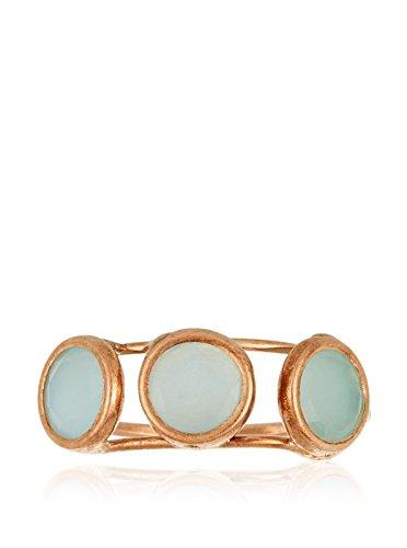 Córdoba Jewels | Anillo en Plata de Ley 925 bañada en Oro Rosa. Diseño Trial Aguamarina