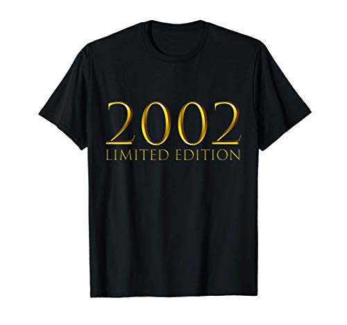 19 Años Cumpleaños Chico Chica Regalo Deco Divertido 2002 Camiseta