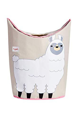 3 brotes cesta de lavandería – Cesta de almacenamiento para bebé organizador para ropa de guardería, Llama