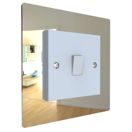 Displaypro Single, Double Light Switch Surround Acrylic Finger Plate Panel Plug Socket (Mirror - Single)